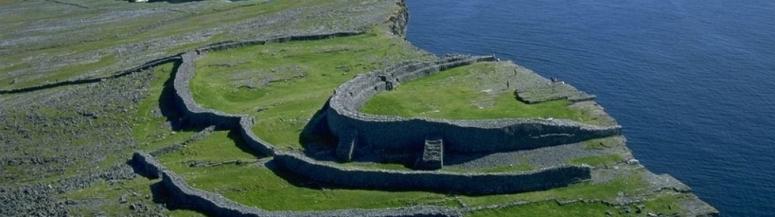 Dun Anghusa on the Aran islands. A response to fear of the Tuatha de Dananns