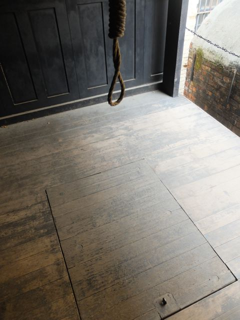 Hangman's noose and trap door at Hobart Gaol
