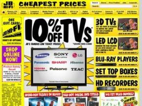 JB Hi Fi ad for TV's