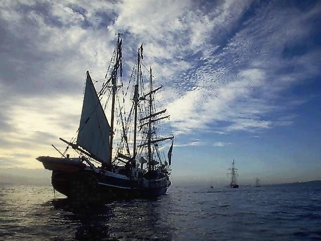 Ship from 1800's at sea
