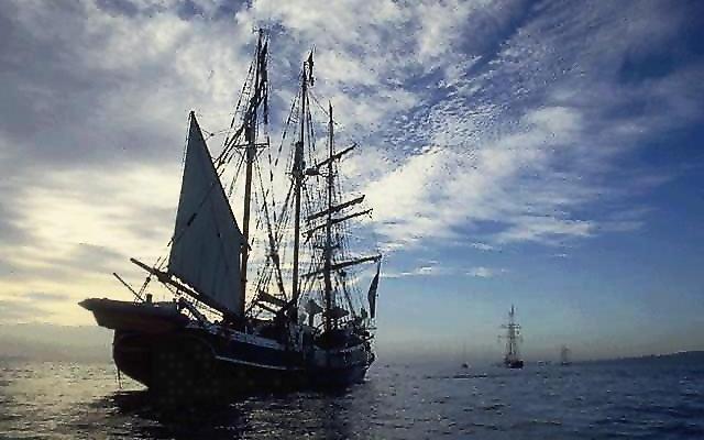 Ship from 1800's at sea