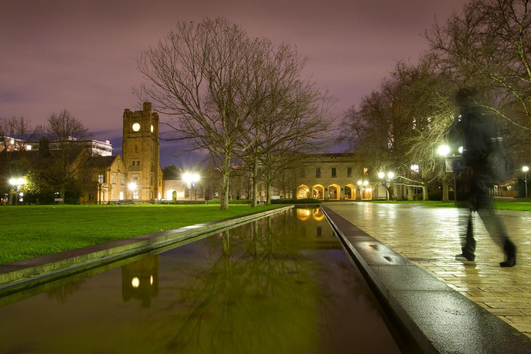 University at dusk